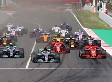 La partenza del GP di Spagna di domenica scorsa LAPRESSE