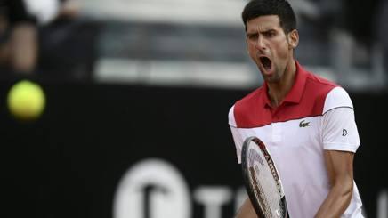 L'urlo di Novak Djokovic. Afp