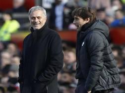 José Mourinho e Antonio Conte, LaPresse