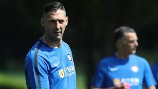 Marco Materazzi si allena ad Appiano Gentile. Getty