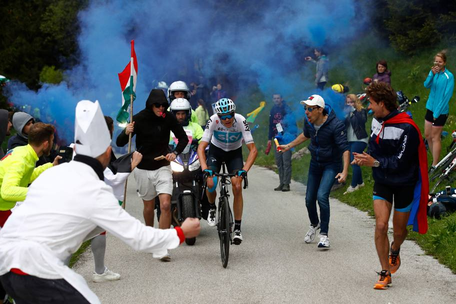 Froome tra i tifosi sullo Zoncolan AFP