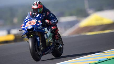 Maverick Viñales in azione in Francia. Getty