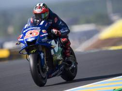 Maverick Viñales in azione in Francia. Getty