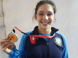 Laura Godino con la medaglia d'argento europea nei -61 kg