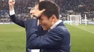 Steven Zhang in lacrime