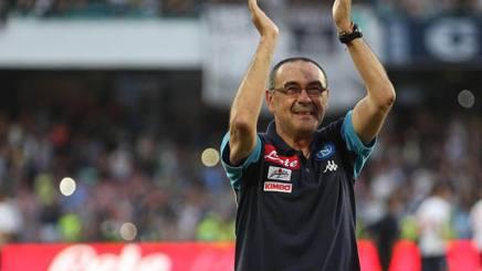 Il tecnico del Napoli Maurizio Sarri. Ansa