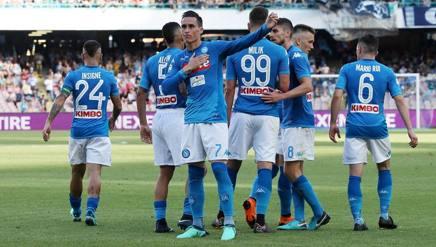 José Maria Callejon e Arkadiusz Milik, entrambi in gol con il Crotone. Ansa