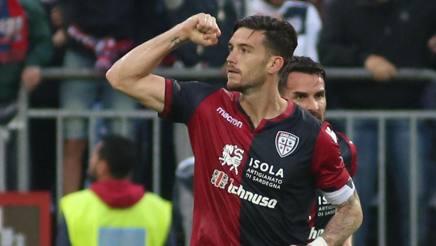 Ceppitelli esulta dopo il gol vittoria sull'Atalanta. Ansa