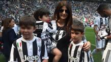 Ilaria D'amico allo Stadium per l'addio di Buffon e la festa scudetto. Ansa