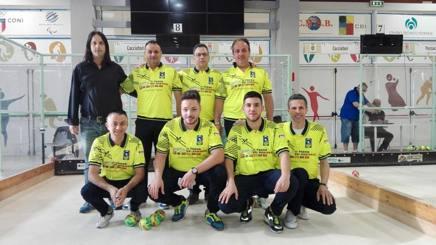 Gli atleti della Cacciatori (Comitato Provinciale di Salerno), vincitori del tricolore società di 1/a categoria