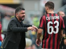 Rino Gattuso, 40 anni, e Patrick Cutrone, 20. Getty