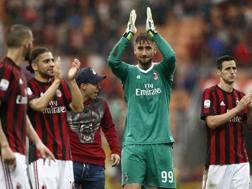 Il portiere del Milan Gigio Donnarumma, 19 anni. LaPresse
