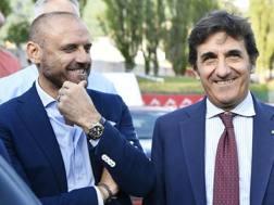 Il d.s. del Torino Petrachi col presidente Urbano Cairo. LaPresse