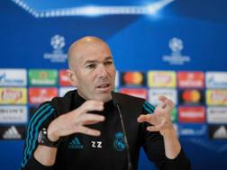 Zinedine Zidane, tecnico della Juventus. Afp