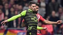 Cristiano Piccini affronta Diego Costa in Sporting-Atletico. Afp