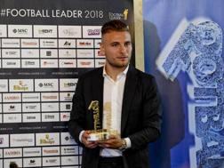 Ciro Immobile alla consegna del premio Football Leader. Ansa