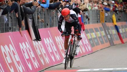 Fabio Aru durante la crono da Trento a Rovereto. LaPresse