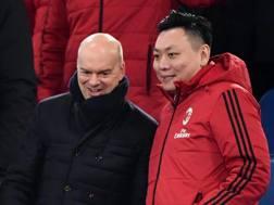 Marco Fassone, a.d. del Milan, e David Han Li, direttore esecutivo rossonero. Ansa