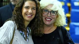 Giulia Gabana a sinistra con Catia Pedrini