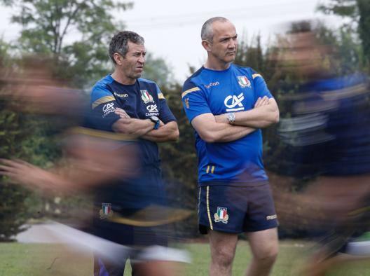 Wayne Smith, a sinistra, 61 anni col c.t. Conor O'Shea, 47 BREGANI