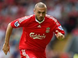 Andrea Dossena, 36 anni, ai tempi del Liverpool. Getty