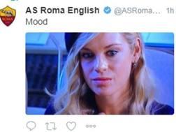 Il tweet della Roma sul suo profilo inglese di twitter
