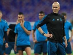 Il tecnico del Real Madrid Zinedine Zidane, 45 anni. LaPresse