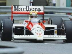 Ayrton Senna in azione a Monaco 1988 sulla McLaren. Getty