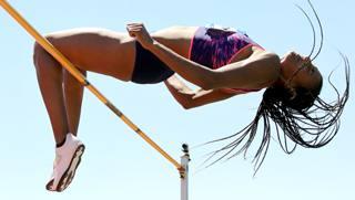 La belga Nafi Thiam, 23 anni DURAND/IAAF