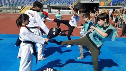 Lezione di taekwondo per giovanissimi di  Sogno Olimpico