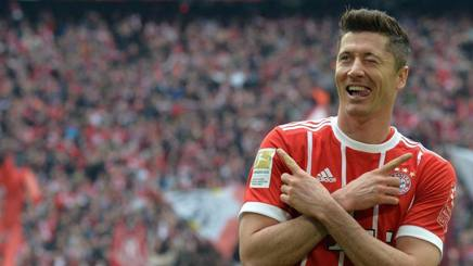 Robert Lewandowski, 29 anni, attaccante del Bayern Monaco. Epa