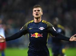 L'attaccante del Lipsia Timo Werner, 22 anni. Afp