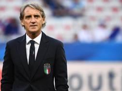 Il c.t. della Nazionale Roberto Mancini, 53 anni. Afp
