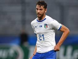 Il centrocampista del Milan Manuel Locatelli, 20 anni. Getty