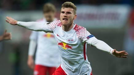 Timo Werner del Lipsia, 22 anni: piace al Milan. Afp