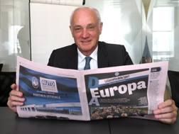 Il presidente dell'Atalanta, Antonio Percassi. Bozzani