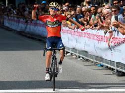 Hermann Pernsteiner, 27 anni, in trionfo a Lugano. Bettini