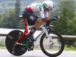 Gianni Moscon, 24 anni, campione italiano crono, impegnato nel prologo del Delfinato (Bettini)
