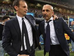 L'allenatore della Juventus, Massimiliano Allegri, e il tecnico dell'Inter, Luciano Spalletti. Getty