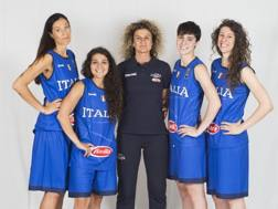Raelin Marie D'alie, coach Angela Adiamoli, Giulia Ciavarella e Giulia Rulli: le nazionali azzurre di 3X3 CIAMILLO