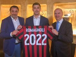 Il difensore del Milan Alessio Romagnoli, 23 anni. Afp