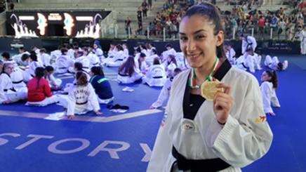 Giada Iurlaro, 17 anni, oro nella -59 juniores