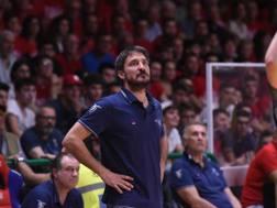 Gianmarco Pozzecco, 45 anni, subentrato a Matteo Boniciolli a stagione in corso sulla panchina della Fortitudo CIAMILLO