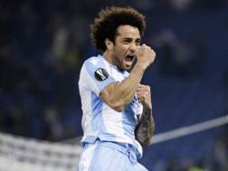 L'esterno d'attacco della Lazio Felipe Anderson, 25 anni. Ap