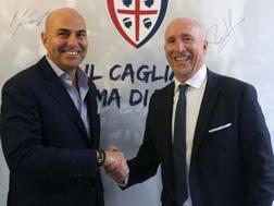 Rolando Maran con il presidente del Cagliari Tommaso Giulini