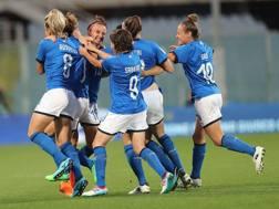 L'Italia festeggia la qualificazione. Getty Images