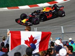 Max Verstappen in azione a Montreal. Afp