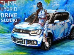La Suzuki Ignis Hybrid nella sua coloratissima livrea