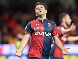 Giuseppe Rossi si dispera dopo un gol sbagliato col Genoa. Getty