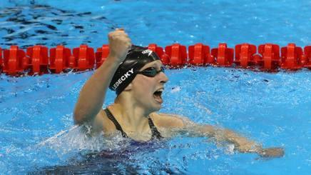 Katie Ledecky, 21 anni, ha vinto 4 ori ai Giochi di Rio 2016 GETTY